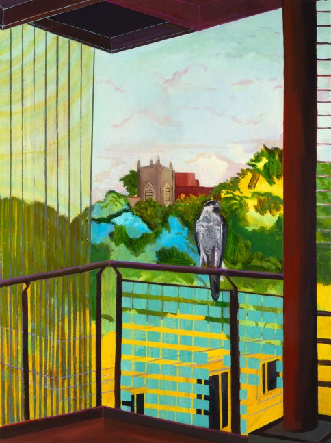 "Deirdre Murphy, Edgeland I Looking In  40"" x 30""   Oil On Canvas"