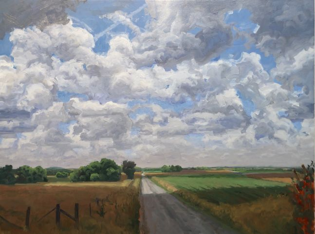 """Country Road  30"""" x 40""""  Oil On Canvas"""