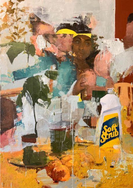 """Soft Scrub  36"""" x 24""""  Oil On Board"""