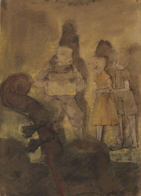 "Rehearsal VII, Study #1, 16"" x 11""  Oil On Canvas"