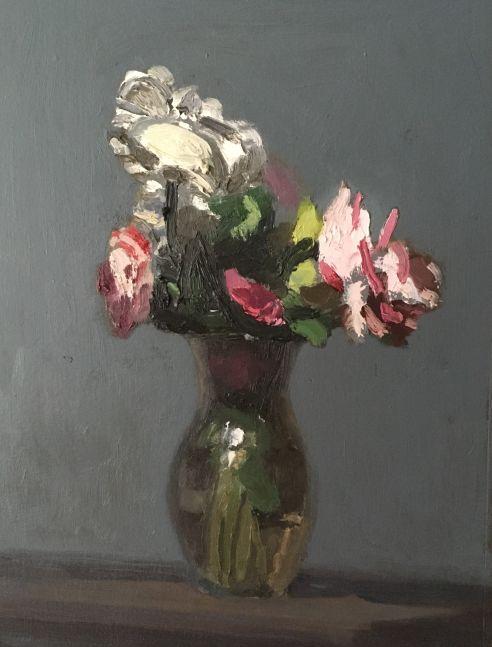 """Flowers  9"""" x 7""""  Oil On Panel"""