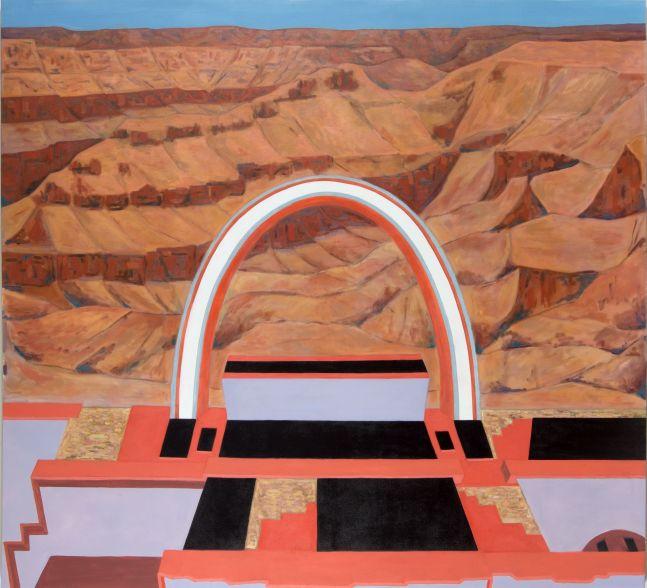 """Skywalk   62"""" x 70""""  Oil On Canvas"""
