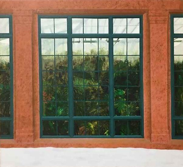 "Longwood Greenhouse  22"" x 24""  Oil On Canvas"