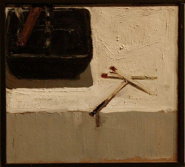 """Lord, Such Fire From A Match You Never Lit  8"""" x 8.5""""  Oil On Board"""