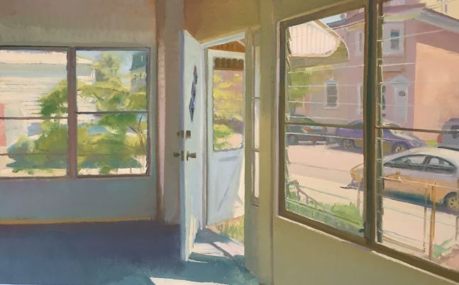 """The Porch in May  30"""" x 48""""  Oil On Linen"""