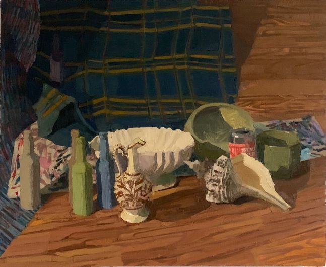 """Collected Objects  23"""" x 28""""  Oil On Canvas, Mounted On Panel"""