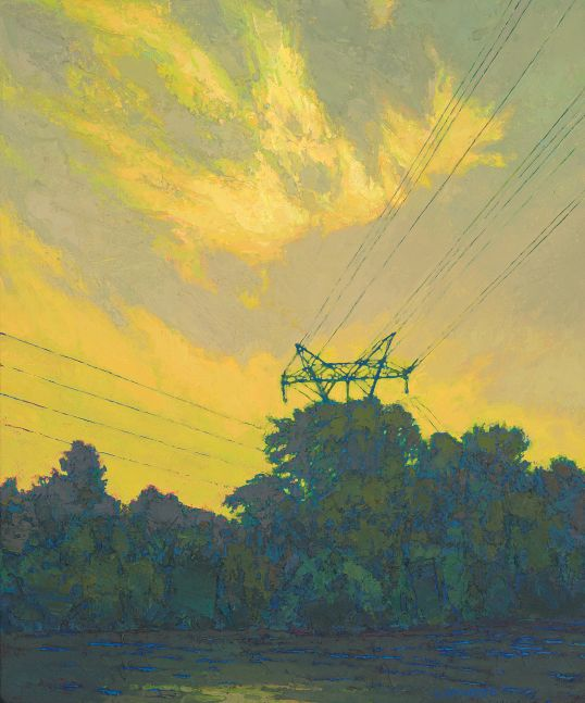 """Thomas Paquette, Current (Mississippi)   24"""" x 20""""  Oil On Panel"""