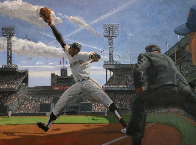 "Stretch, 30"" x 40"", Oil On Canvas"
