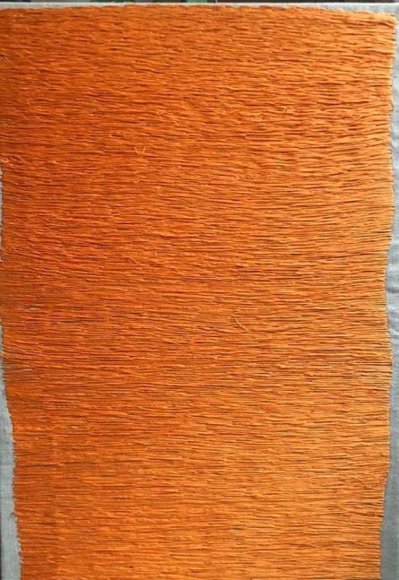 "Color Composition Orange  20"" x 14""  Thread On Canvas"