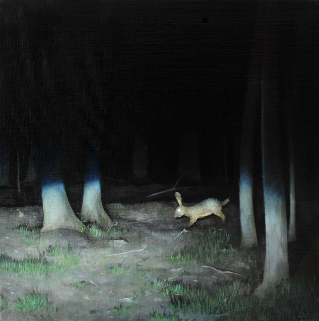 """We See Them At Night  12"""" x 12""""  Oil On Linen, Mounted Panel"""