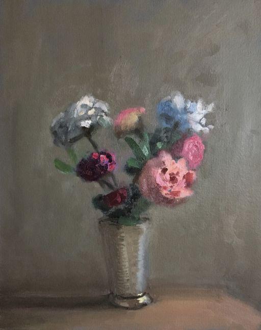 "Roses   11"" x 9""  Oil On Panel"