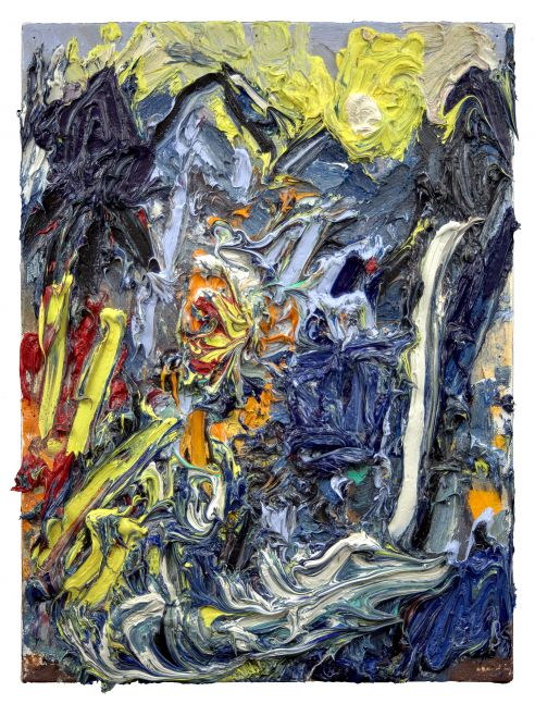 """Telluride Mountains #1(Sunrise)  16"""" x 12""""  Oil On Linen"""