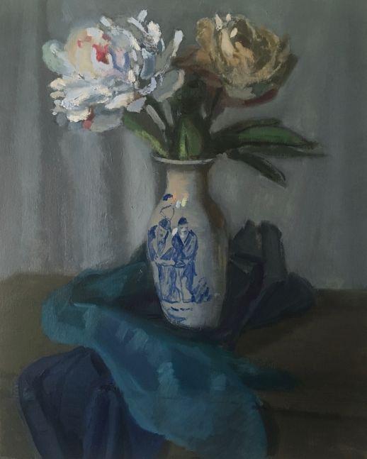 "Giovanni Casadei, Peonies 15"" x 13""  Oil On Panel"