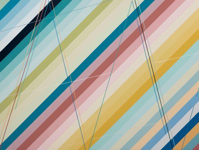 """XXXIV, 58"""" x 77"""", Acrylic Paint On Canvas"""
