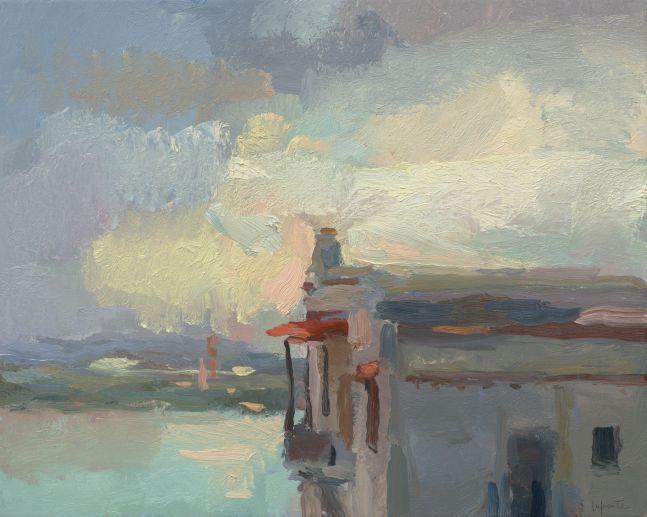 """Casa Blanda, Evening  16"""" x 20""""  Oil On Linen"""