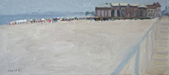 "Ocean City Music Pier  9.5"" x 21""  Oil On Panel"