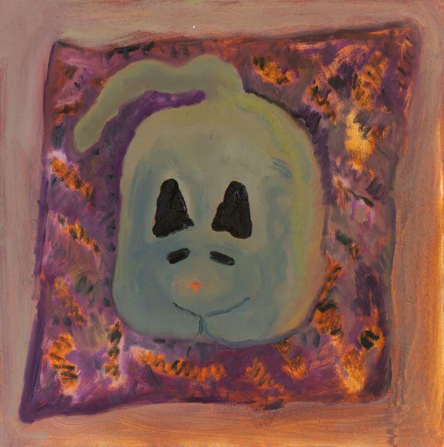 "Scaredy Cat - Pumpkin  22"" x 22""  Oil On Canvas"