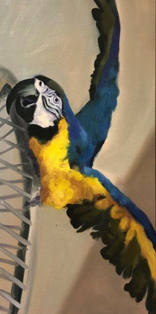 """Soaring  24"""" x 12""""  Oil On Canvas"""