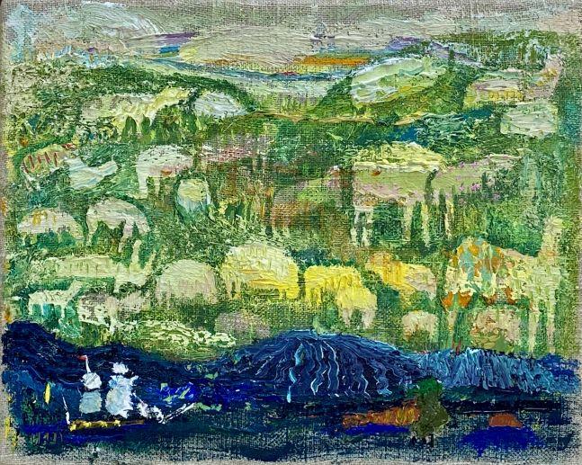 "Green Pasture  8"" x 10""  Oil On Linen"