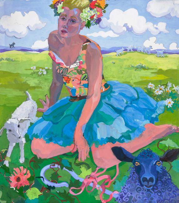 Joan Becker, Bo, 58 x 52, Gouache
