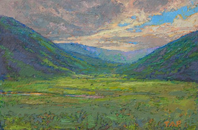 "Thomas Paquette, Study: Glen Alladale 4"" x 5.75""  Oil/Linen"