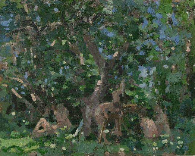 """Artists  16"""" x 20""""  Oil On Wood"""