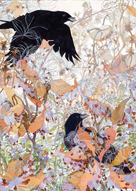 "Joan Becker, Watch, 40"" x 30"", Watercolor"