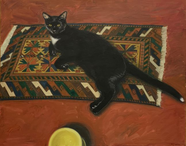 """Toby  32.5"""" x 40.5""""   Oil On Canvas"""