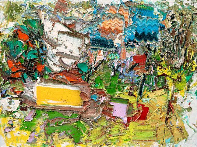 """Duck Pond #3 (Autumn)  36"""" x 48""""  Oil On Linen"""