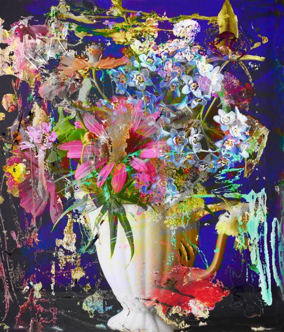 """Irene Mamiye, Homage 6569  28"""" x 24""""  Dye-sublimation Prints On Iodized Aluminum"""