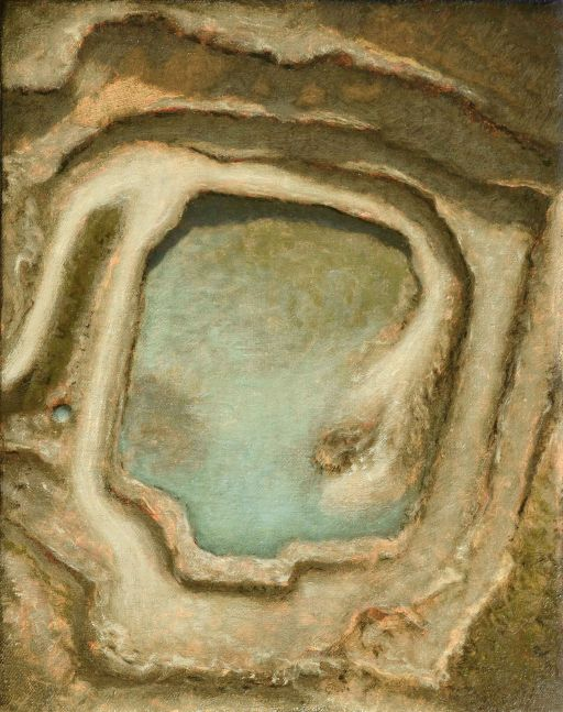 """Ted Walsh, Quarry Study  11.5"""" x 9""""  Oil On Panel"""