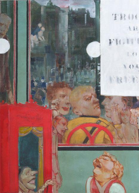 "Image (Deaf Republic Series)  30"" x 22""  Oil On Canvas"