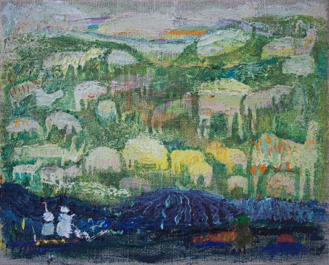 "Bethann Parker, Green Pasture 8"" x 10""  Oil On Linen"