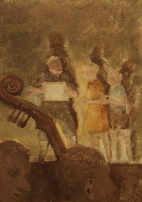 "Rehearsal VII  16"" x 11""  Oil On Canvas"