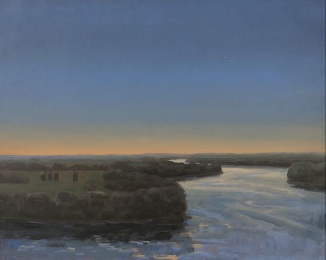 Evening On The Missouri  22″ x 32″  Oil On Canvas
