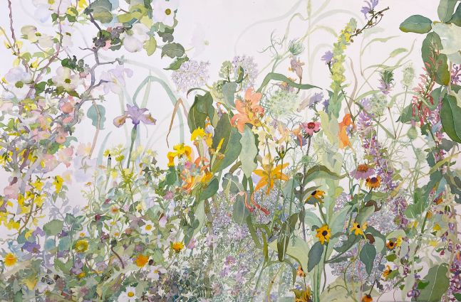"Joan Becker, 40"" x 60"", Finally Spring, Watercolor"