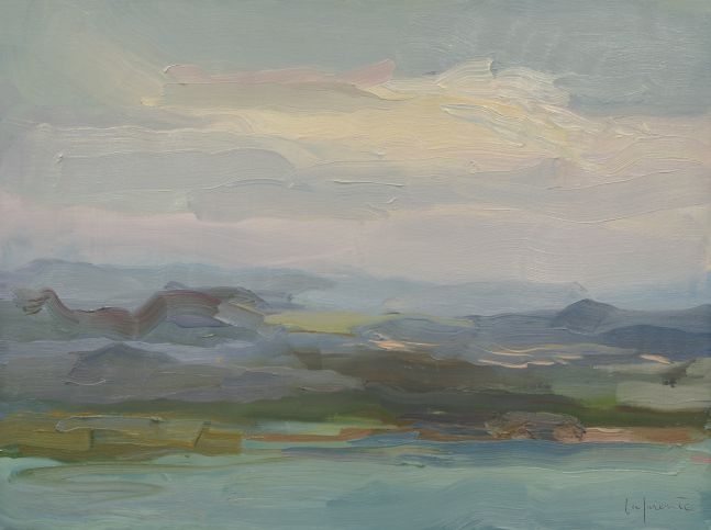 """Mountains And Clouds, San Juan  12"""" x 16""""  Oil On Mounted Linen"""