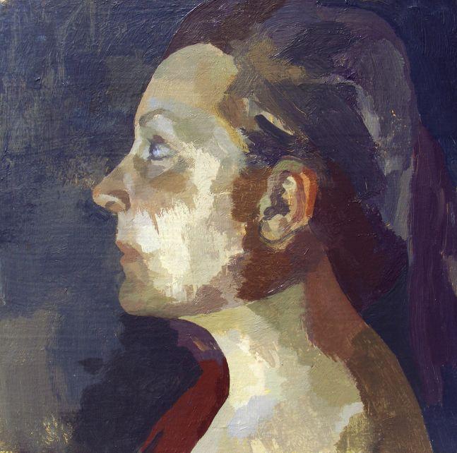 """Pasiphae  12"""" x 12""""  Acrylic On Canvas"""
