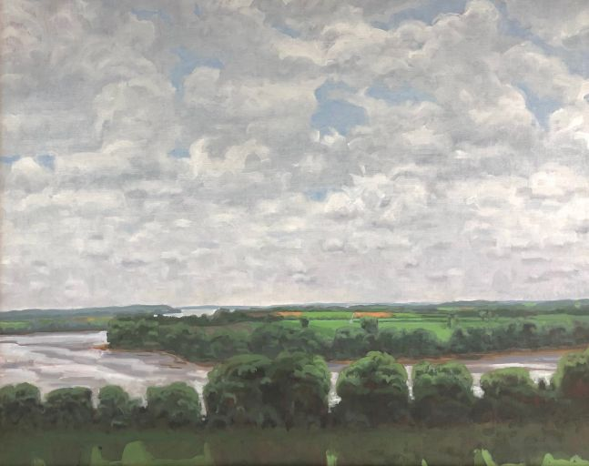 "Summer Bottomlands  9"" x 12""  Oil On Board"