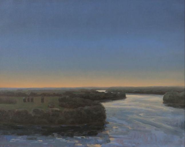 Evening On The Missouri  22″ x 32″  Oil On Canvas