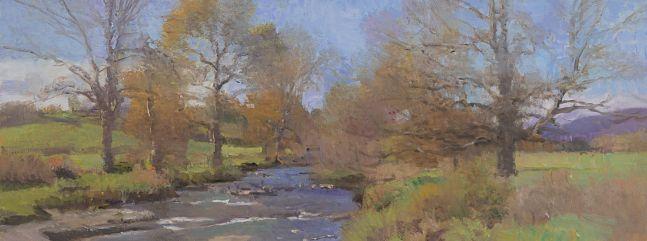 "Kerr's Creek  7"" x 18.75""  Oil On Panel"