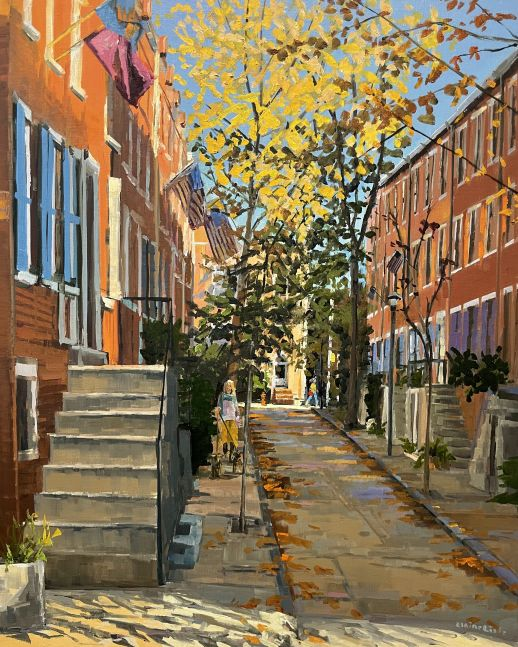 """Revisiting Uber Street (SOLD)  30"""" x 24""""  Oil On Canvas"""