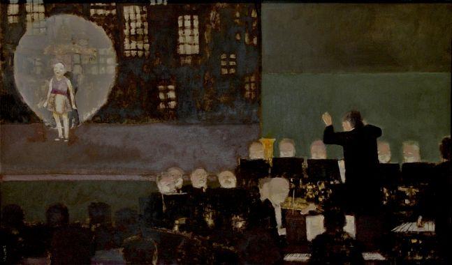 """Rehearsal  21"""" x 35""""  Oil On Canvas"""