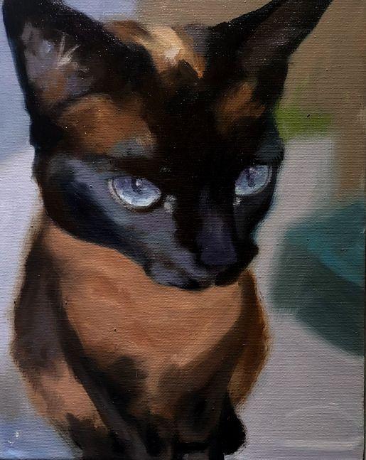 """Midnight  10"""" x 8""""  Oil On Canvas"""
