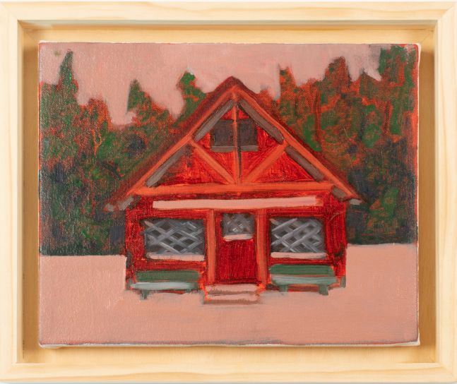 "Pioneer Cabin  8"" x 10""  Oil On Canvas"