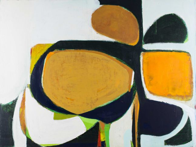"BLACKFLOWER (Magnolia 2)  36"" x 48""  Acrylic On Panel"