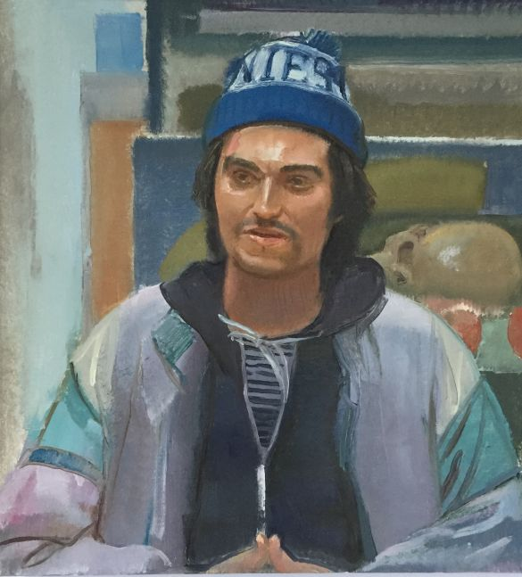 "Portrait of Marcus  30"" x 26""  Oil On Linen"