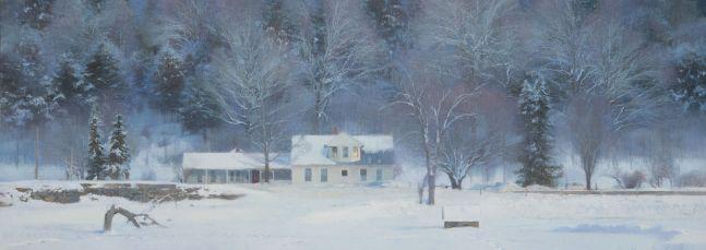 "Ice Over Snow  23"" x 64""  Oil On Canvas"