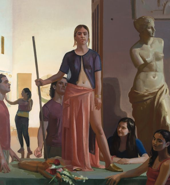 "Britomart  84"" x 78""  Oil On Canvas"