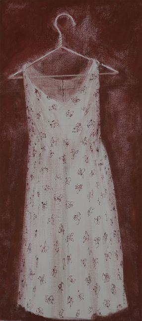"Wife's Dress  31"" x 14""  Oil On Canvas"